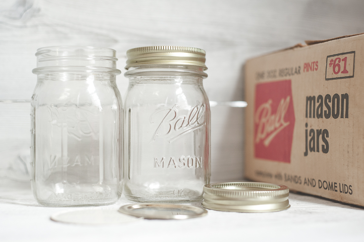 Vintage mason jars pints Ball