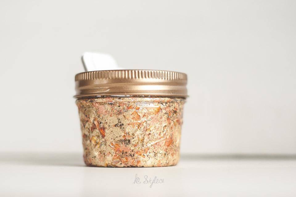 Gold Leaf Mason Jar Candle